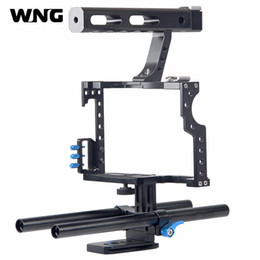 $enCountryForm.capitalKeyWord Australia - Professional Handle Grip DSLR Rig Video Camera Cage Stabilizer For Sony Alpha A7S A7 A7R A7RII A7SII for Panasonic Lumix GH4