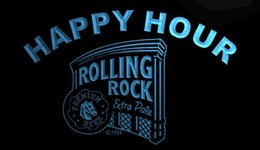 rolling rock beer signs 2019 - LS1270-b- Rolling Rock Beer Happy Hour Bar 3D LED Neon Light Sign Customize on Demand 8 colors to choose