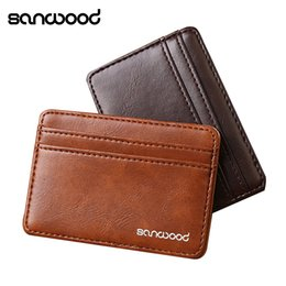 $enCountryForm.capitalKeyWord NZ - Hot Fashion New Men's Fashion Magic Faux Leather Slim Wallet Card Holder Purse