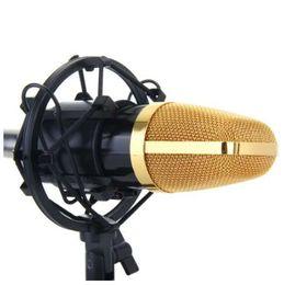 Universal Preto Estúdio de Gravação de Microfone Choque Montar Titular Microfone Condensador Clamp Clipe Stand Shockmount Mike Suspensão Aranha
