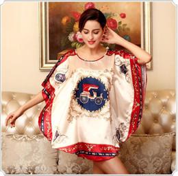 $enCountryForm.capitalKeyWord NZ - New style Anti real silk Robe Super large code loose Nightdress Bathrobe Bathrobe Home clothing Sleepwear Soft silk slippery Robe Nightdress