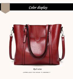 plum tote bag 2019 - Women bag Oil wax Women's Leather Handbags Luxury Lady Hand Bags With Purse Pocket Women messenger bag Big Tote Sac