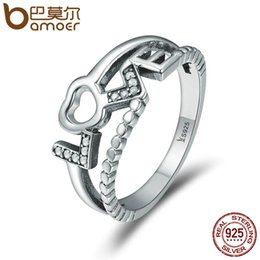 Discount jewelry set letter - whole saleBAMOER Genuine 100% 925 Sterling Silver Truth Of Love Letter Finger Rings for Women Luxury Sterling Silver Jew