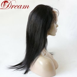 "$enCountryForm.capitalKeyWord NZ - Dream Silky Straight 360 Full Lace Frontal Closure With Virgin Hair Natural Baby Hair Hairline Natural Color Adjustable Strap 10 "" to 20"""