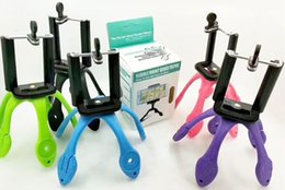Green Tripod NZ - NEW Portable Universal Flexible Gecko Mini Tripod Mount Multi Function Phone Camera Stand Octopus Spider Holder For All Phones DHL LLFA