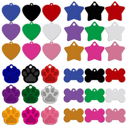 $enCountryForm.capitalKeyWord NZ - 200pcs lot Custom Personalized Engraved Pet ID Tag Bone Paw 9 Shapes Identification Dog Cat Charm Double Sided Tag