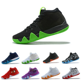 Chinese  2019 Kyrie Irving 4 Basketball Shoes 4s Mens Classic Wolf Grey Team Red trainers best Equality Graffiti Fall Boots US 7-12 manufacturers