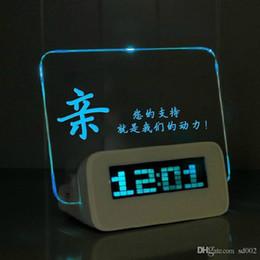 Led digitaL message board online shopping - USB Digital Alarm Clock DIY Fashion Trend Table Clocks Practical Multi Function Luminous Message Board Timepiece For Bedroom lz ZZ