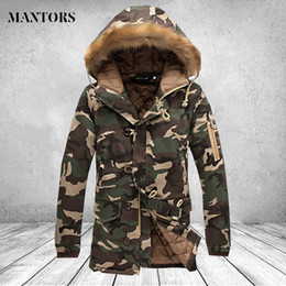 9909694fb1a42 Winter Camouflage Jacket Men Thick Warm Long Jackets Parkas hombre Brand  Clothing Mens Fur Hooded Coat Outwear Male Plus size