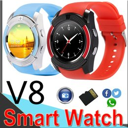 Wholesale V8 smart watch wrist smart watch Bluetooth Watch with Sim Card Slot Camera Controller for iPhone Android Samsung Men Women V815