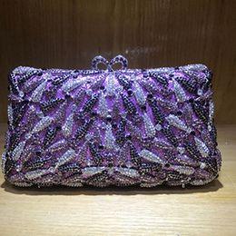 $enCountryForm.capitalKeyWord Canada - Women green purple Crystal Handbags Purse Bridal Wedding Party Day Clutches cocktail Prom banquet evening bags clutch purse red