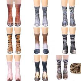 Hiking Socks Objective 2018 Novelty 3d Stamping Animal Foot Paw Feet Crew Socks Adult Digital Simulation Socks Unisex Tiger Dog Cat Sock Camping & Hiking