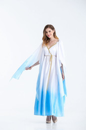 ingrosso dea egiziana-The Princess Costume Cosplay Queen Evening Dress Abito Rayon Halloween Cosplay Faraone egiziano Dea greca Costume da fiaba