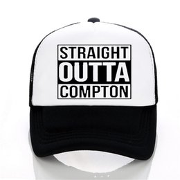 Discount compton hats - Letter Straight Outta Compton Baseball cap Europe and The United States Style rock hat Summer leisure Mesh cap Unisex tr