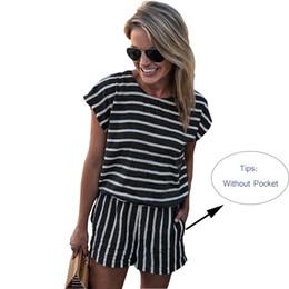 62385f2b299e Discount striped short jumpsuit for women - Short Sleeve Striped Casual Playsuit  Jumpsuits for Women 2018