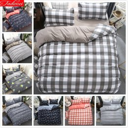 Yellow White Bedding Sets Australia - Grey White Plaid Classic Duvet Cover Sheet Quilt Pillow Case 3 4pcs Bedding Set Adult Kids Bed Linen Single Twin Queen King Size