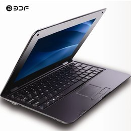 Android Mini Netbook Laptop UK - BDF 2018 New 10.1 Inch notebook laptop HDMI Laptop Quad Core Android 5.1 7029 1.5GHZ HDMI Wi-Fi Bluetooth Mini Netbook
