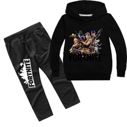 Venta al por mayor de Fornite Battle Royale sudadera para adolescente juego de ropa niña niño camiseta ropa Quincena niño con capucha camiseta Top niños traje