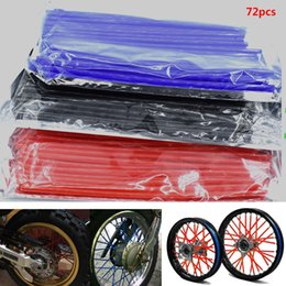 125 bike Canada - For 72 pcs Motorcycle Dirt Bike Wheel Rim Spoke Skins Covers Wrap Tubes Decoration Protector for Honda CR YZ RM KX 80 125 250 450 500