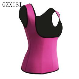 $enCountryForm.capitalKeyWord Australia - Fat Burning Slimming Belt Vests Plus Size 2XL Women Neoprene Shape Wear Waist Trainer Push Up Vest Postpartum Tummy Trimmer Body
