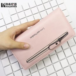 Size Wallet NZ - Kissyenia Women's Purse Leather Wallet Women 2 size Zipper Coin Phone Card Holder Female Money Clutch Designer Wallet KS1147