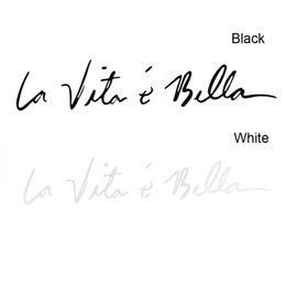 Wholesale vita new for sale – custom 1PC New Arrivals Fashion Cool Life is Beautiful La Vita E Bella Wall Decal Car Styling Sticker