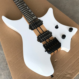 Discount headless guitars - In Stock Grote Headless Electric Guitar, Maple Neck Through, White Ash body, Black Hardware, 24 Frets