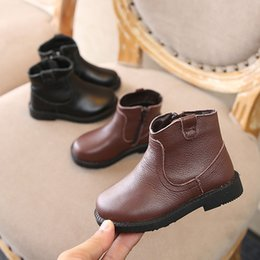 Girls Leather Genuine NZ - 2018 Autumn And Winter New Pattern Children's Shoes girl Genuine Leather Single Boots short style Fashion Concise Joker