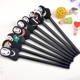Miyazaki spirited away online shopping - Japanese Spirited Away Stationery Hayao Miyazaki Animation Gel Pen Ink Pen Novelty Cartoon Faceless Men Black Ink Kawaii Material