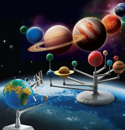 DIY toys Solar System Nine planets Planetarium Model Kit Science Astronomy Project Early Education kids astronomical science model toys from telescope free shipping suppliers