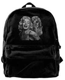 0f014085222a Two Face Marilyn Monroe For Men   Women Fashion Canvas Backpack Travel bag  School bag rucksack duffle bags designer handbags