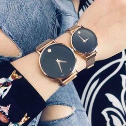 49d36c17fc Luxury brand Mens women lover watches MOV0912 famous designer couple  waistWatches quartz movenment fashion stainless steel band Relojes