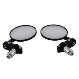 "$enCountryForm.capitalKeyWord UK - 7 8"" Universal Round Motorbike Motorcycle Handle Bar End Rearview Side Mirrors Black Professional Motorcycle Accessories"