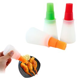 Discount bread machines - 11.3*5cm Heat Resistance Silicone Liquid Oil Pen Basting Brush Kitchen Cooking Bread Pastry BBQ Baking Gadgets