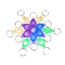 Venta al por mayor de Mini anillo de llavero de antorcha Llavero PK Luces LED blancas, luz LED UV, bombillas LED, tonel II Photon 2 Micro llavero linterna linterna