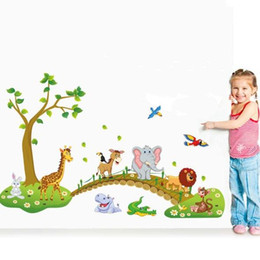 $enCountryForm.capitalKeyWord NZ - Cute Forest Animal Cartoon Wall Stickers Children 's Room Kindergarten Decorative Wall Stickers (Size: 60cm by 90cm, Color: Multicolor)