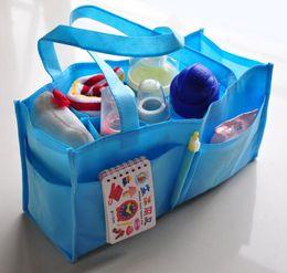 BaBy diaper handBags online shopping - Convenient Baby Diaper Nappy Water Bottle Divider Storage Organizer Mommy Bag Handbag Separate Diaper Tote KKA5677