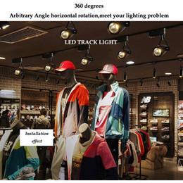 Shop Window Lights Australia - Dimmable 5W 7W 9W LED Track Light Clothing Shop Windows Showrooms Exhibition Spotlight COB LED Ceiling Rail Spot Lamp AC110V220V