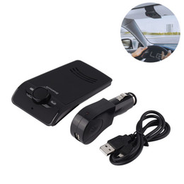 Fix Charger UK - New Sales Handsfree Bluetooth Car Kit Hands Free Bluetooth Speaker Phone Fixed On Sun Visor Clip +Car charger dropping shipping