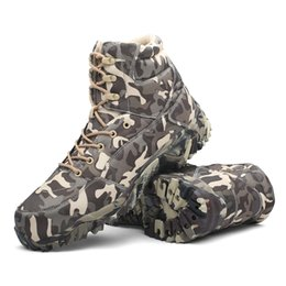 Army combAt boots men online shopping - HAN WILD Tactical Combat Outdoor Sport Army Men Boots Desert Botas Hiking Autumn Shoes Travel Leather High Boots Male