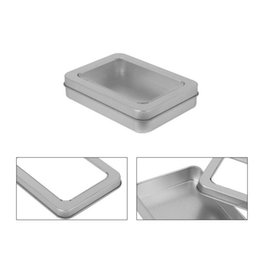 Wholesale New Luxurious Mini Silver Metal Tin Box for Oil Lighter Gift Set Case Square mm