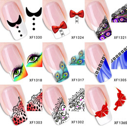 $enCountryForm.capitalKeyWord Canada - Wholesale 30 Sheets lot 100 models colorful lace watermark Nail Art Stickers Nail Decals Water Transfer Sticker DIY Design