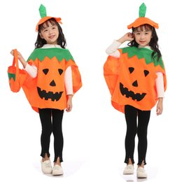 8db0e9662f Halloween Pumpkin Costume Child Adult Cosplay Cosplay Fruit Dress Pumpkin  Bag Set super cute free shipping