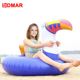 Giant Party Ring NZ - DMAR 200cm 78inch Inflatable Toucan Giant Pool Water Float Toys Unicorn Swimming Ring Circle Inflatable Mattress Sea Water Party