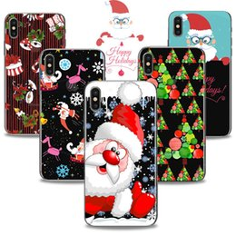 Phone Cases For Iphone 5c NZ - Christmas Phone Case For iPhone 6 6s 7 8 Plus 5s 5c X Santa Claus Soft TPU Painted Transparent Cases Back Cover