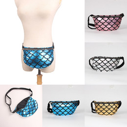 $enCountryForm.capitalKeyWord Canada - Mermaid Waist Bag Fish scales Purse 2018 women Makeup Bags cartoon Messenger bag Mermaid Shoulder Bags 4 colors Handbags C3679