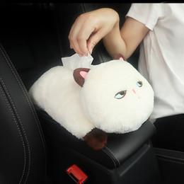 $enCountryForm.capitalKeyWord Australia - New Funny Cartoon Block Washable Car Hanging Seat Back Type Car Armrest Tissue Box Cute Cat Interior Auto Accessories For Women