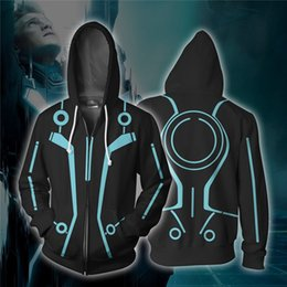 women s plus size costumes 2019 - movie Tron Legacy 3d Cosplay Costumes Zipper Hoodies Sweatshirts 3D Printing Unisex Adult man women Clothing discount wo