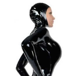 $enCountryForm.capitalKeyWord NZ - women Black rubber latex catsuit with hood mask cap rubber bodysuit with socks and gloves custom made hot sale