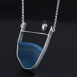 Jewelry penguin pendant dhgate uk 925 sterling silver handmade fashion jewelry natural stone cute penguin pendant necklaces for women mozeypictures Images
